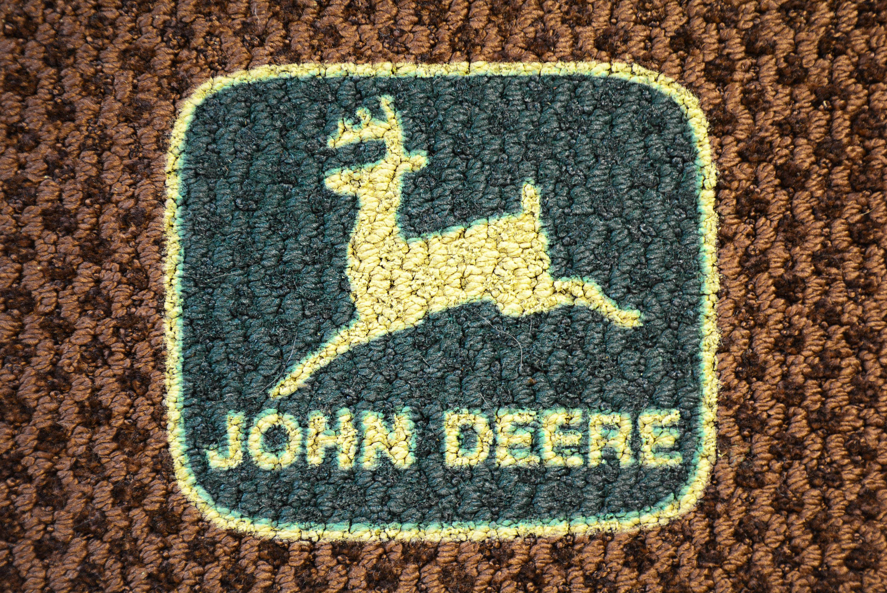 john deere 1970s logo welcome door mat 1 farm barn tractor